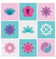 logo spa flowers vector image vector image