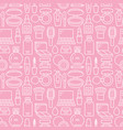 makeup beauty care pink white seamless pattern vector image vector image