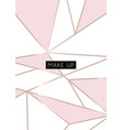 makeup poster card abstract geometric poster vector image vector image