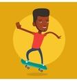Man riding skateboard vector image vector image