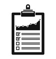 management diagram icon simple style vector image