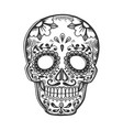 mask day of the dead sketch engraving vector image