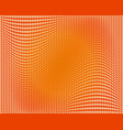 orange wavy halftone background vector image