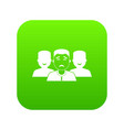 people group icon digital green vector image vector image