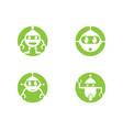 robot logo template vector image