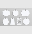 sale tags blank white empty shopping vector image vector image