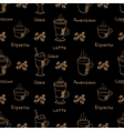 seamless pattern with coffee drink vector image vector image