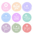 set labels and bages for sellers including thank vector image vector image