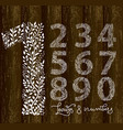 set letters on wooden background vector image