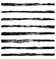 Set of Black brush strokes vector image vector image