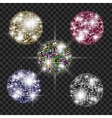 Set of disco balls vector image
