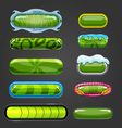 Set of green button for game design vector image