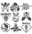 Set of honey and beekeeping labels badges