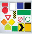 set of road signs templates make your own road vector image vector image