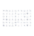 set simple icons uae vector image vector image