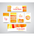set watercolor business cards template and vector image