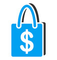 shopping bag flat icon vector image vector image