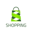 Shopping logo template vector image vector image