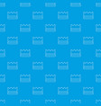 silver crown pattern seamless blue vector image vector image