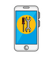 smartphone device with tools vector image