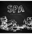 Spa Chalkboard Background vector image vector image
