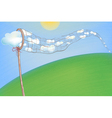 Summer Clouds in the Net vector image vector image
