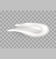 sweet foam healthy yogurt realistic fresh cream vector image vector image