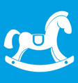 toy horse icon white vector image vector image