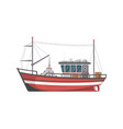 vintage fishing boat side view icon vector image vector image