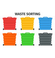 waste sorting and recycling sorting management vector image vector image