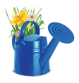 Watering with a bouquet vector image vector image