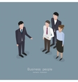 Business boss man vector image