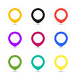 map point set icons coloful vector image