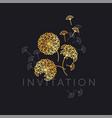 abstract geometric dandelion flowers vector image