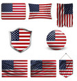 american grunge flag an american grunge flag for vector image vector image