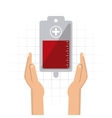 arm bag hand blood donation icon graphic vector image vector image