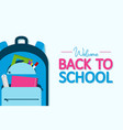 back to school banner backpack with school vector image vector image