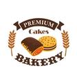 Bakery pastry shop busniess label emblem vector image vector image
