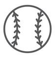 baseball ball line icon game and sport ball sign vector image vector image