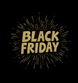 black friday banner typographic design vector image vector image