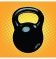 Black retro kettlebell sports equipment vector image vector image
