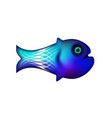 blue little fish of sea and animal vector image vector image