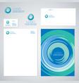 blue whirlpool logo identity vector image vector image