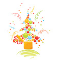 box with christmas tree vector image vector image