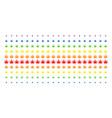 cannabis shape halftone spectrum effect vector image vector image