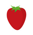 cartoon strawberry ingredient fruit icon vector image