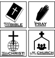 Christian logos by Christian icons vector image
