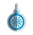 Christmas decorative symbol vector image vector image