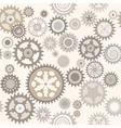 Clock cogwheels Retro Seamless pattern vector image
