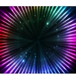 Colorful shining cosmic lights abstract background vector image vector image
